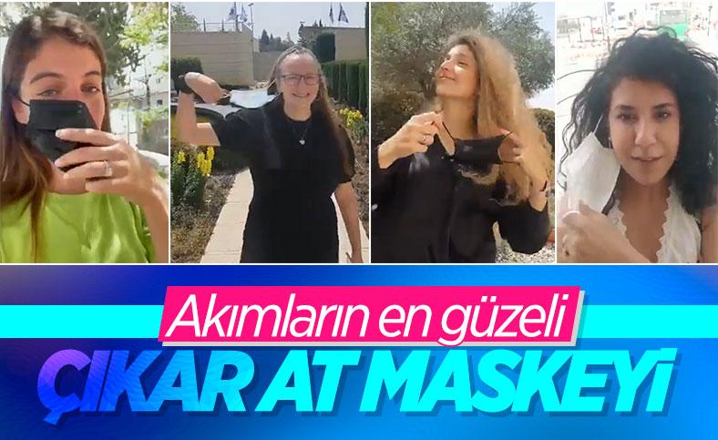 İsrailliler maskelerden kurtulduk akımı başlattı