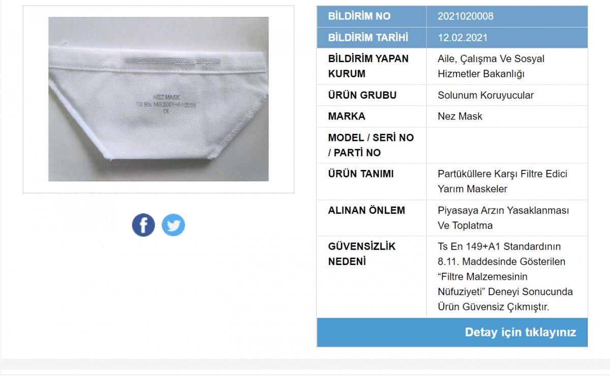 Güvensiz olduğu belirlenen 41 maske markası açıklandı
