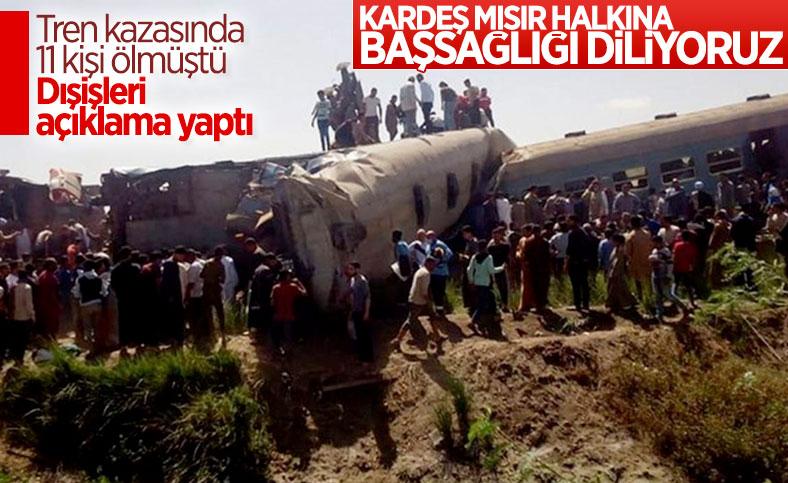Dışişleri Bakanlığı'ndanMısır'da yaşanan tren kazasıyla ilgili taziye mesajı
