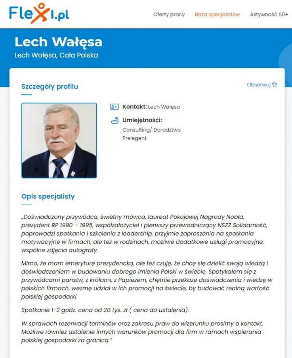 Polonya nın eski Cumhurbaşkanı Walesa, internette iş arıyor #2