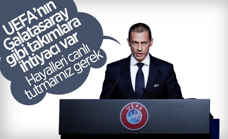 Aleksander Ceferin: UEFA'nın Galatasaray gibi takımlara ihtiyacı var