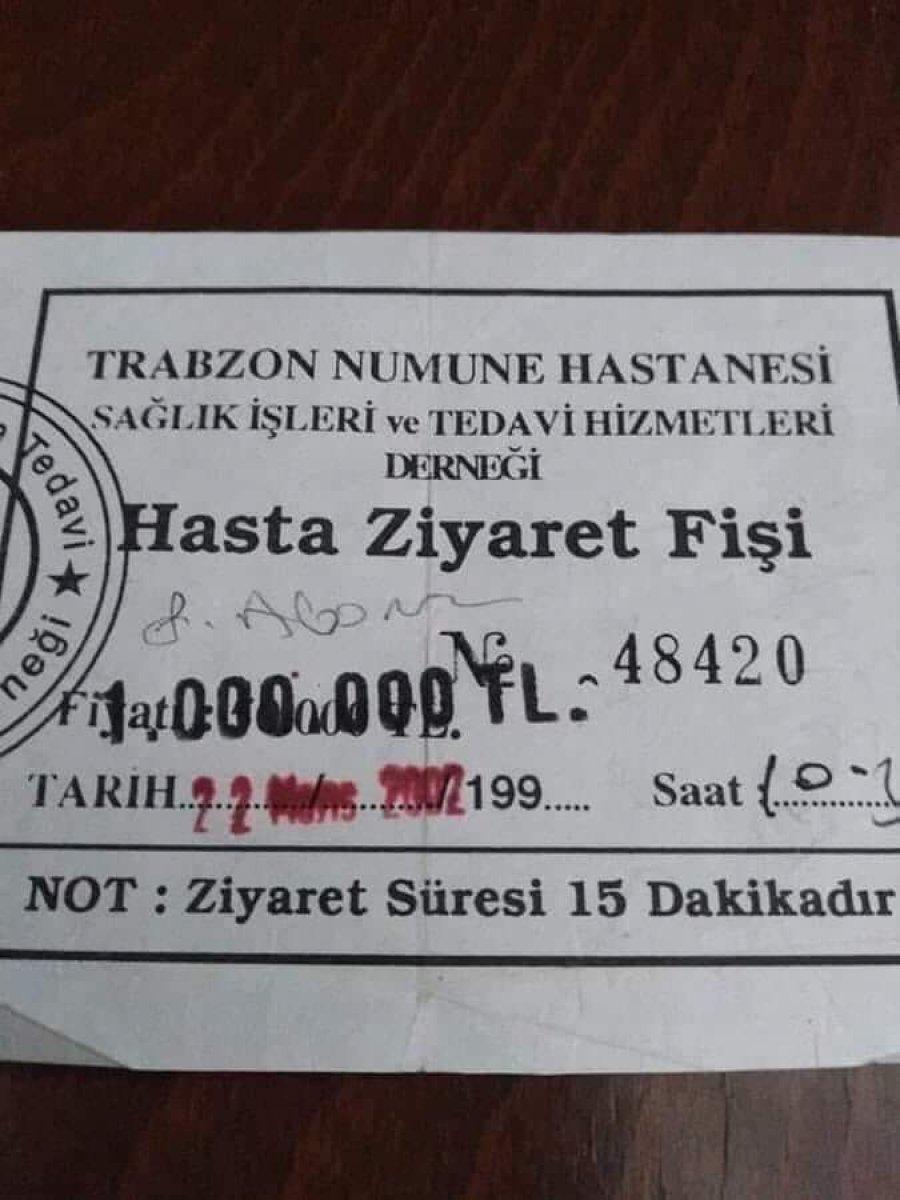Bir zamanların Türkiye si: Hasta ziyaret fişleri  #1