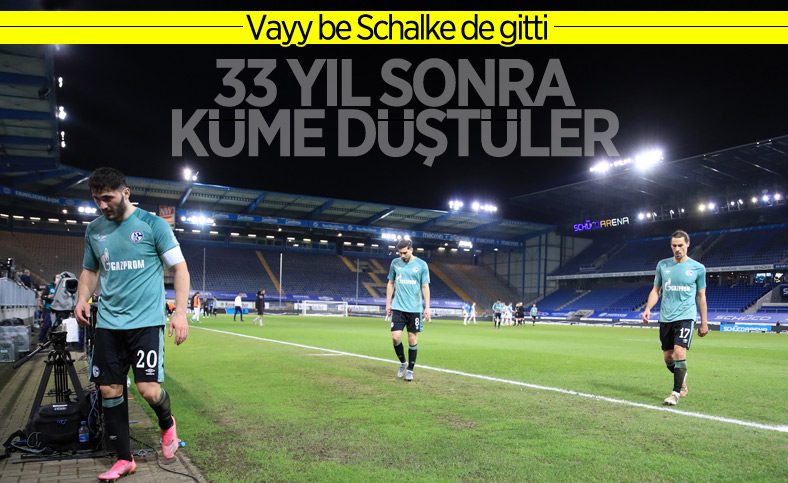 Bundesliga'da Schalke, küme düştü