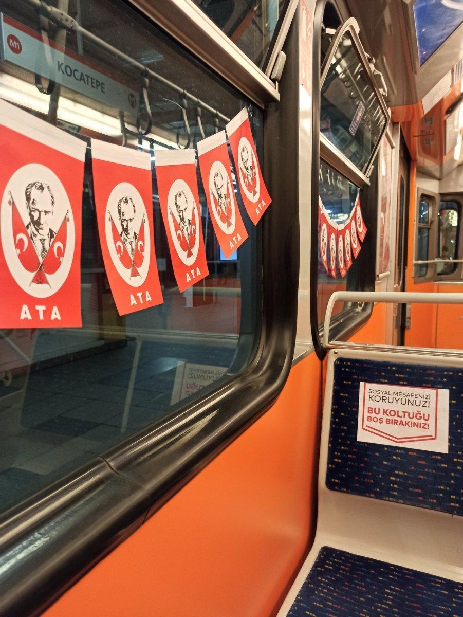 İBB nin metroları bayrakla süslemesinin maliyeti belli oldu #4