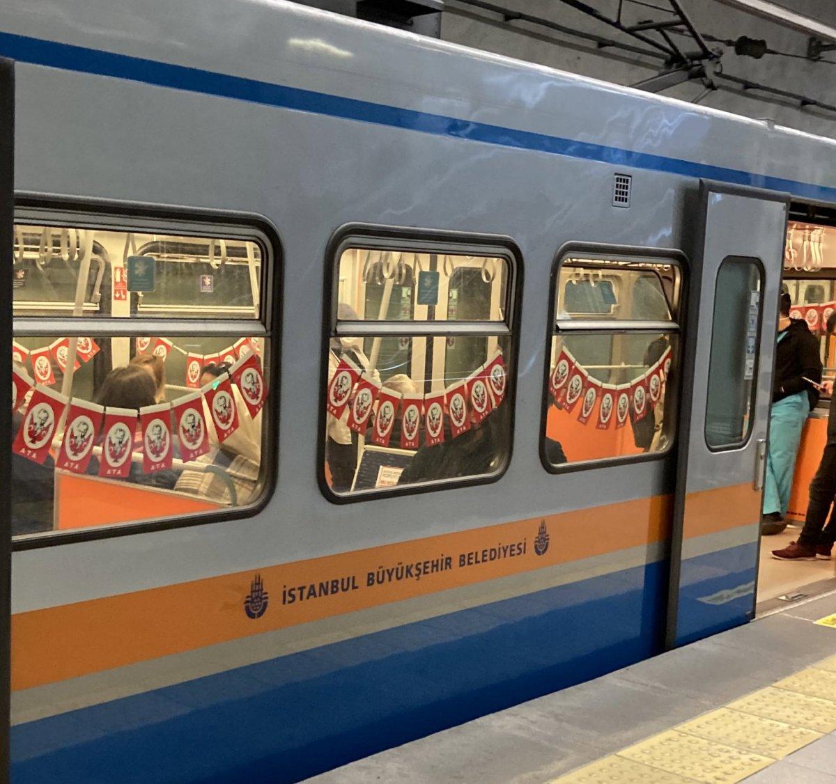 İBB nin metroları bayrakla süslemesinin maliyeti belli oldu #5