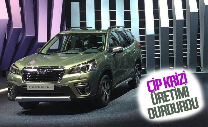 Subaru, çip sorunu nedeniyle ABD'deki tesislerinde üretimi durdurdu