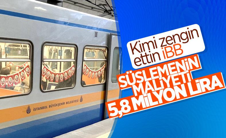 İBB'nin metroları bayrakla süslemesinin maliyeti belli oldu