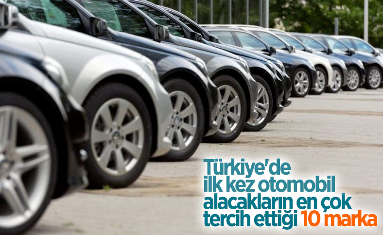 Türkiye'de ilk kez otomobil alacakların tercih ettiği markalar