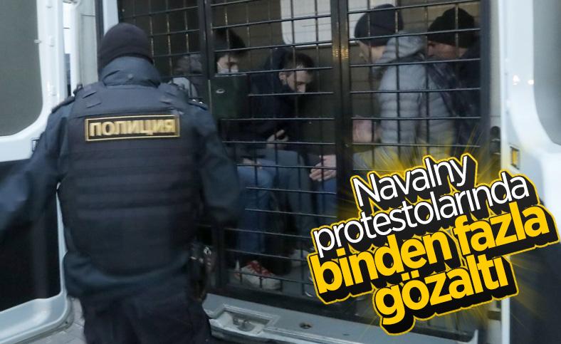 Rusya'da Navalny protestolarında binden fazla kişi gözaltına alındı