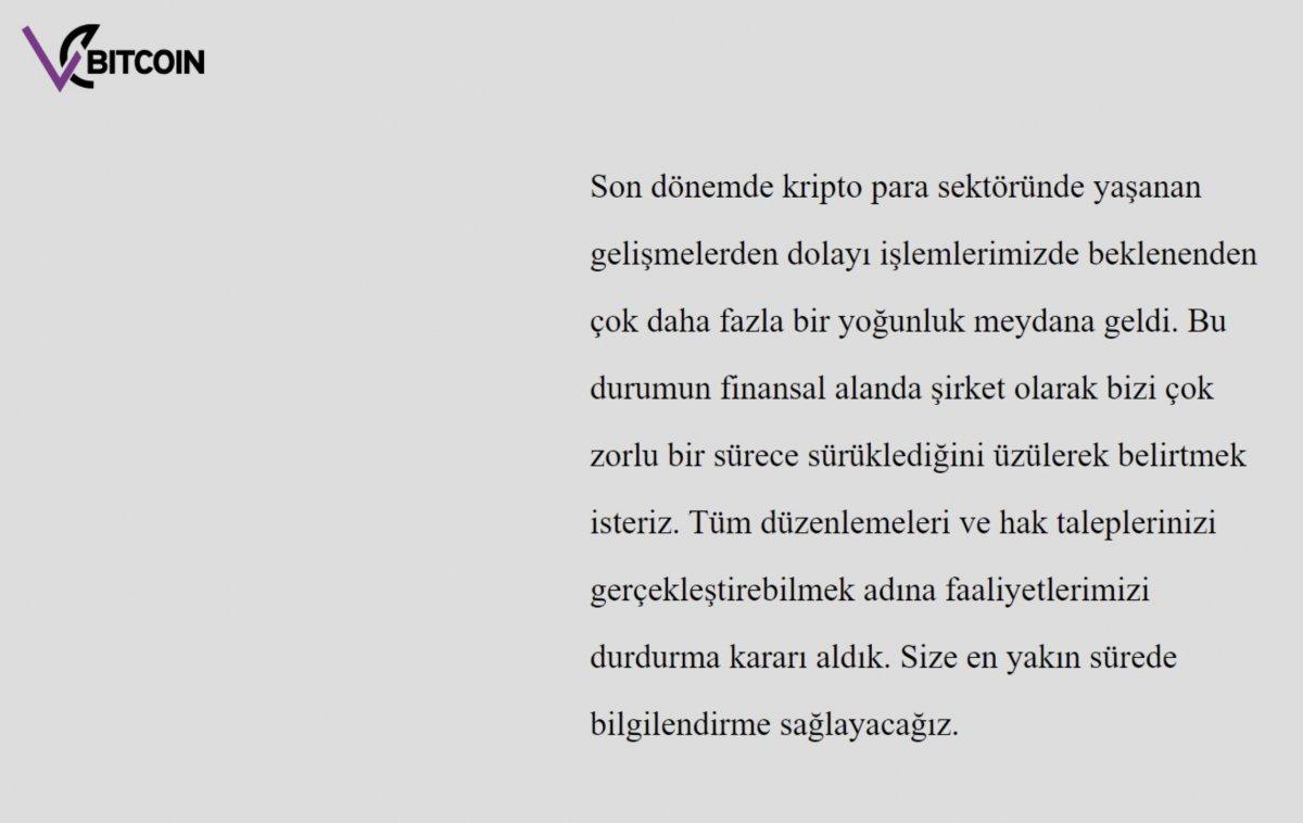 Kripto para sitesi VEBITCOIN kapandı #1