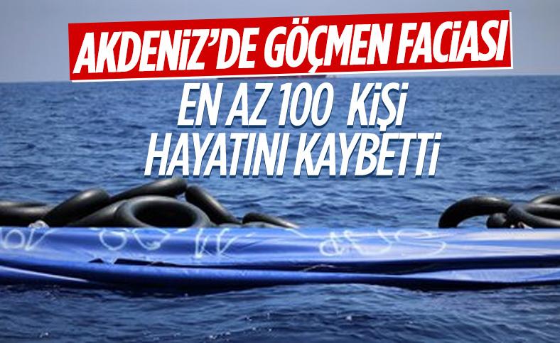 Akdeniz'deki tekne kazasında çok sayıda göçmen hayatını kaybetti