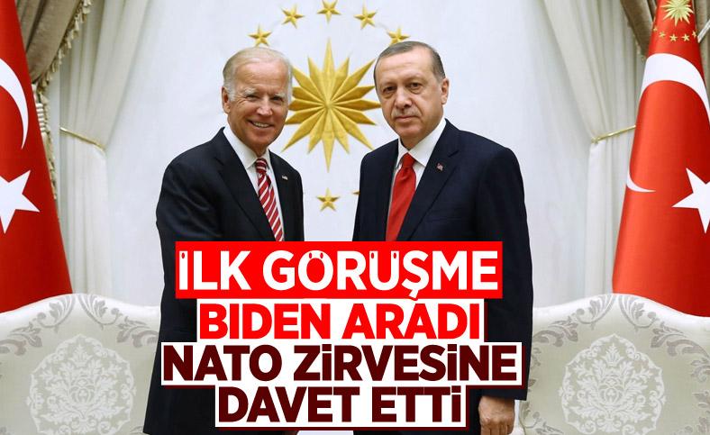 Cumhurbaşkanı Erdoğan, Joe Biden'la görüştü