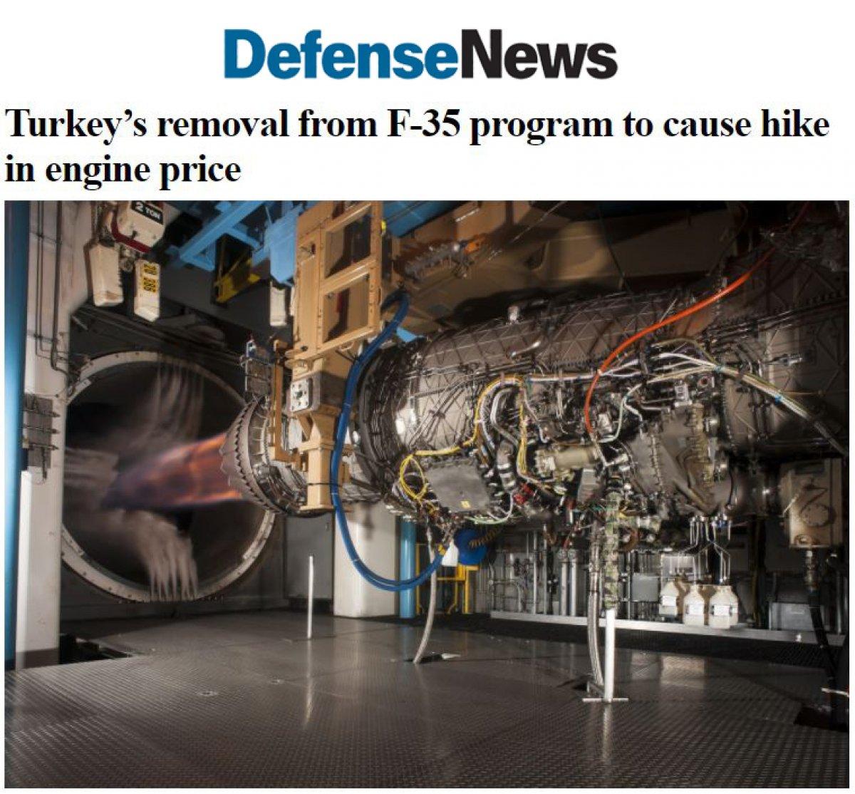 ABD li uçak motoru üreticisi: Türkiye nin F-35 ten çıkarılması fiyatları artıracak #4