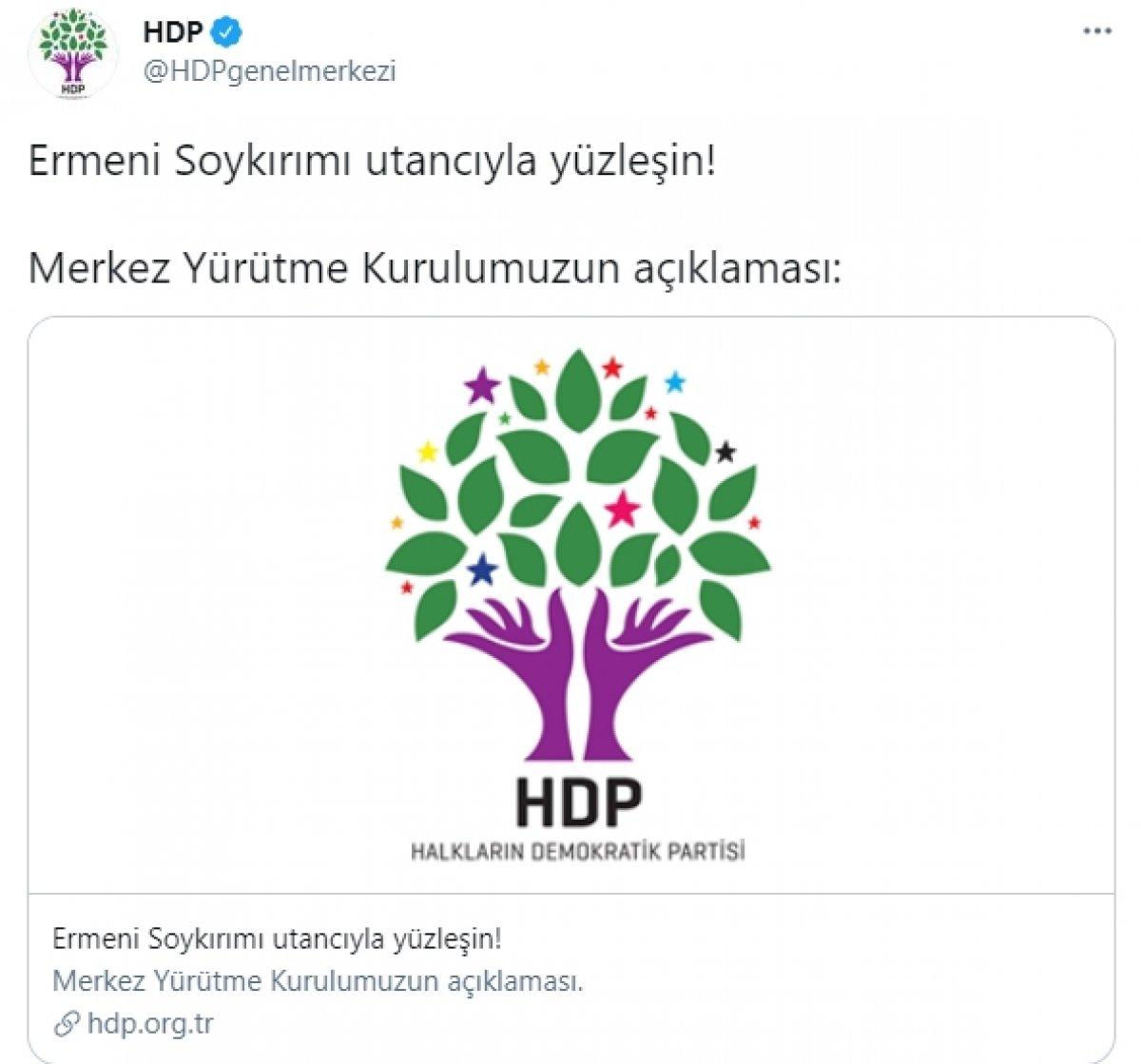 HDP sözde 1915 olaylarına destek verdi #1