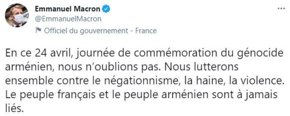Emmanuel Macron: 24 Nisan ı unutmayacağız #1