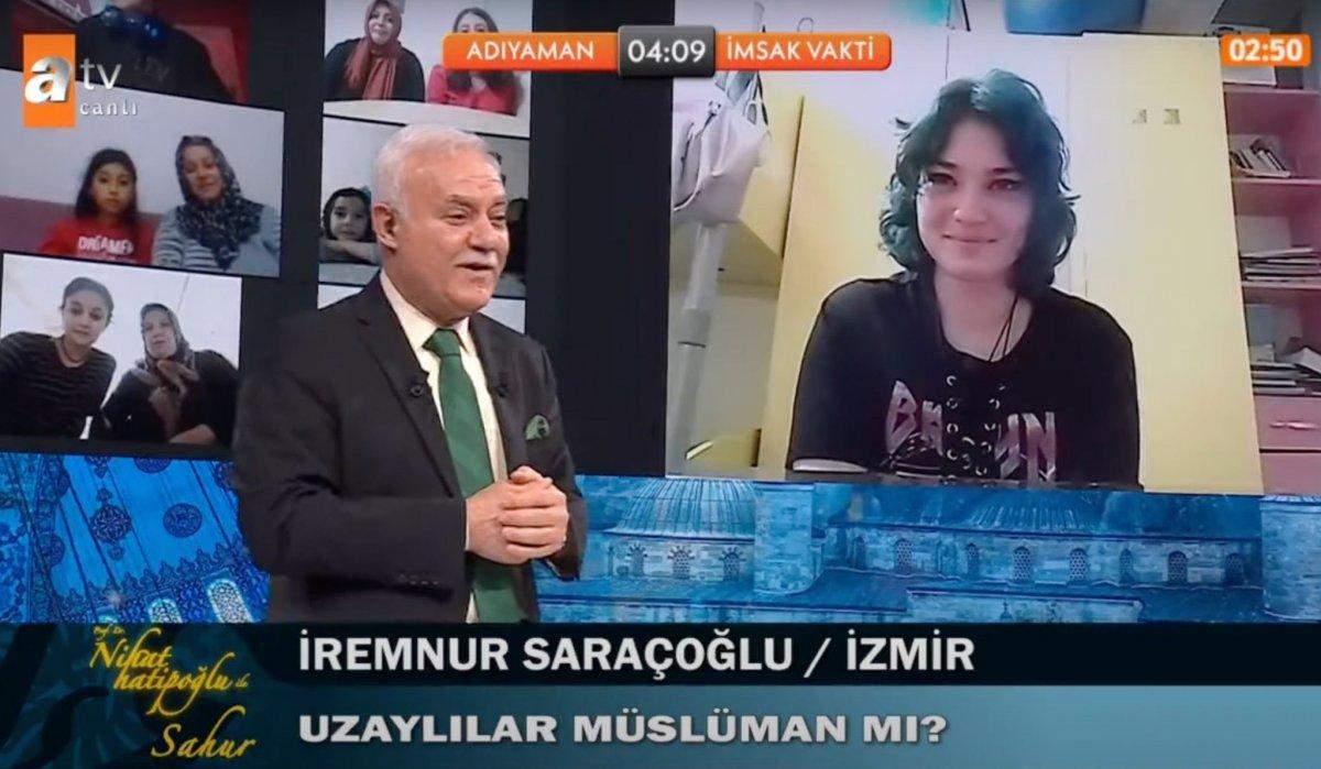 Prof. Dr. Nihat Hatipoğlu na,  Uzaylılar Müslüman mı?  sorusu #1