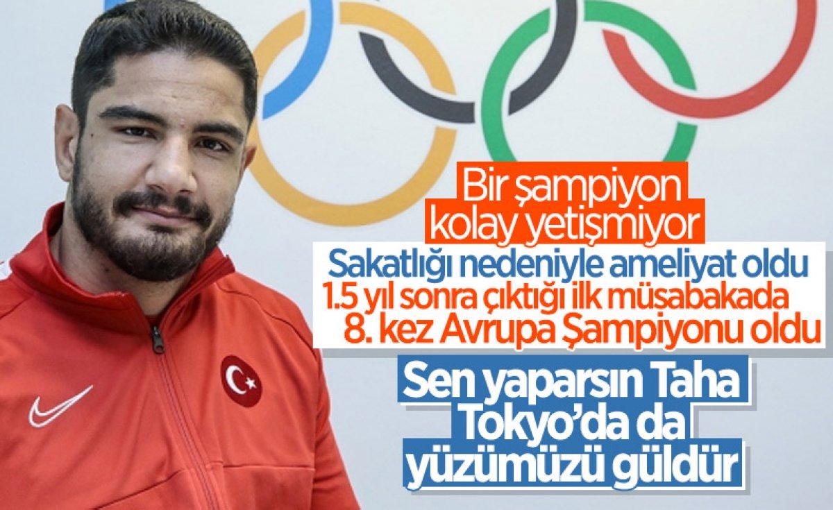 Taha Akgül, 8. şampiyonlukla Avrupa güreş tarihine geçti #5