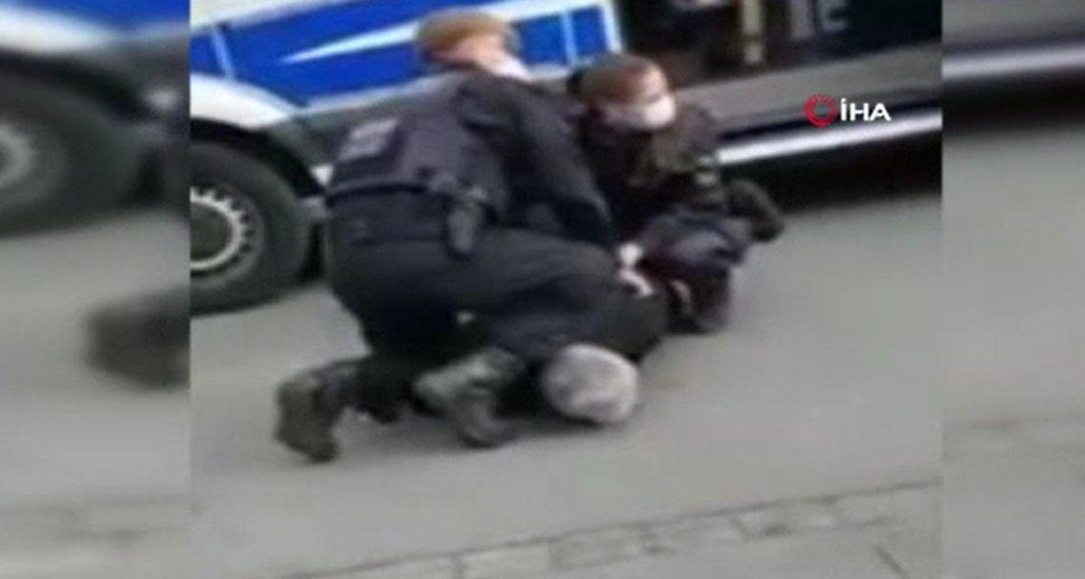 Alman polisinden Türk vatandaşa 'George Floyd' müdahalesi #2
