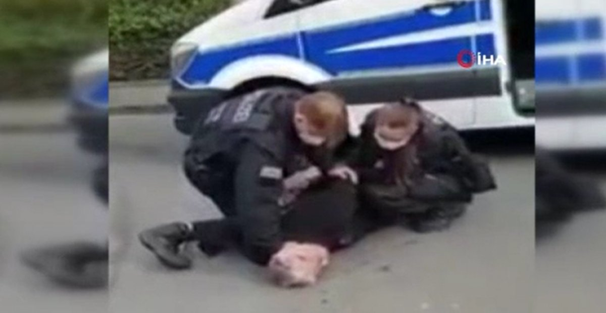 Alman polisinden Türk vatandaşa 'George Floyd' müdahalesi #3