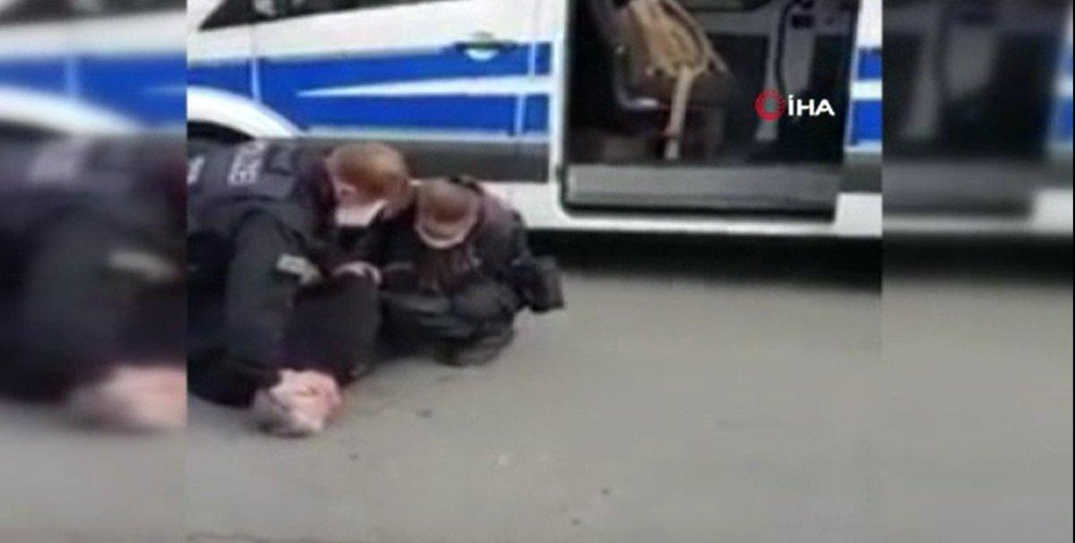 Alman polisinden Türk vatandaşa 'George Floyd' müdahalesi #1