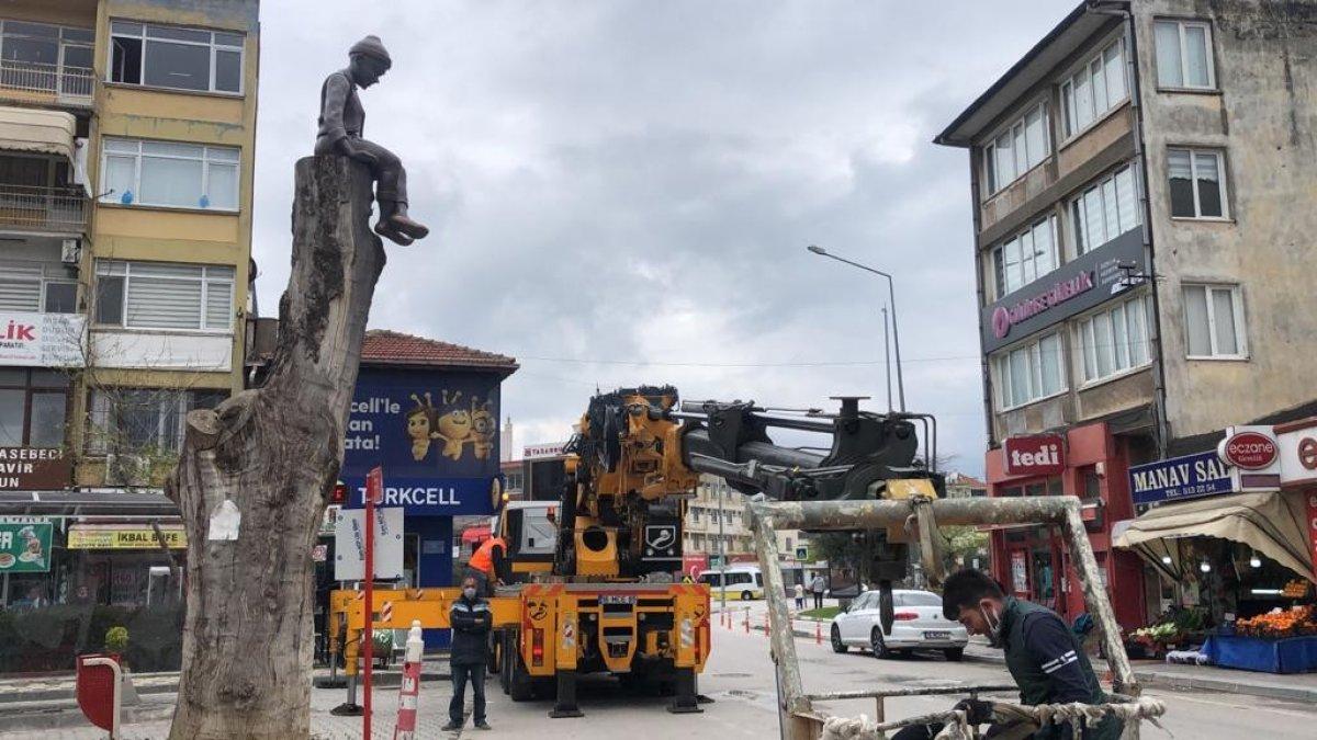 CHP'li Gemlik Belediyesi'nden Keloğlan heykeli  #3