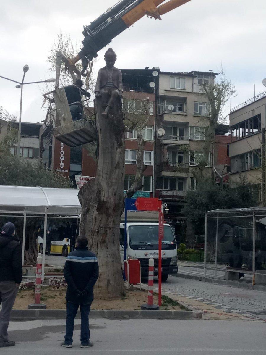CHP'li Gemlik Belediyesi'nden Keloğlan heykeli  #5