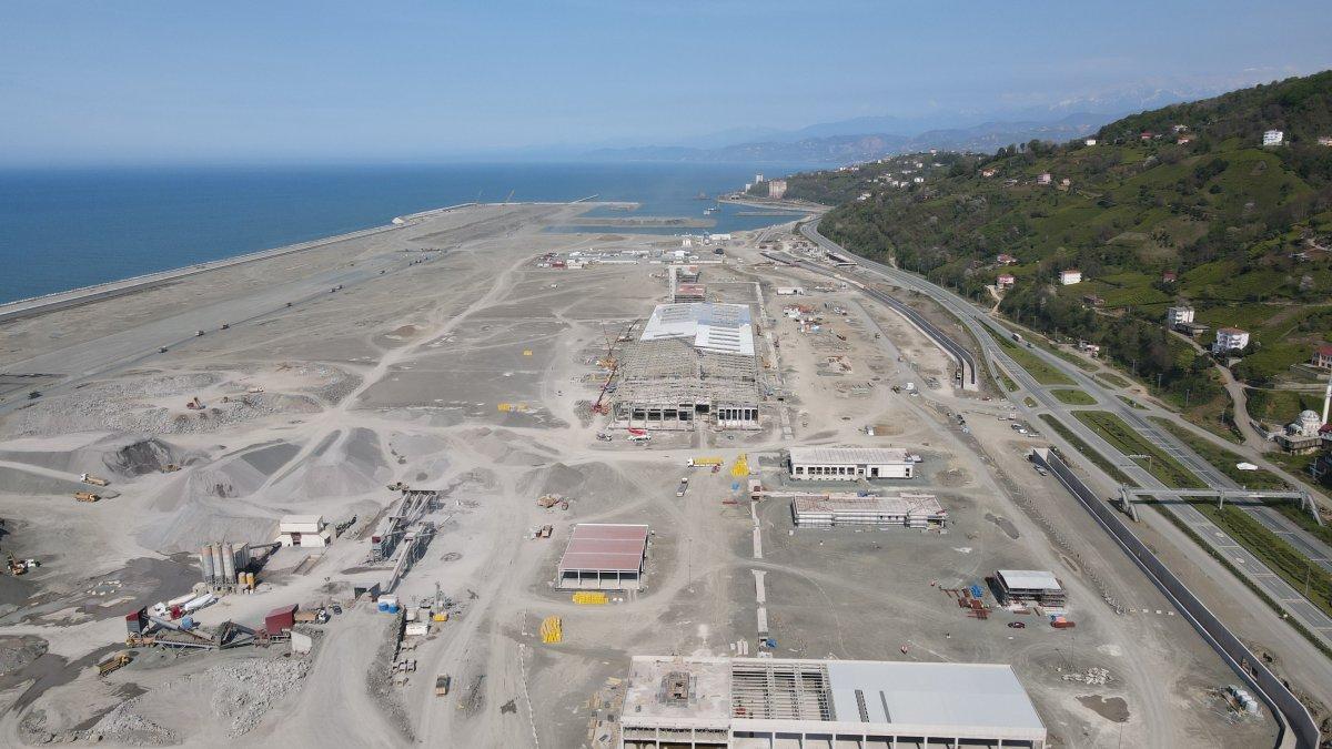 Rize-Artvin Havalimanı'nda çalışmalar sürüyor #1