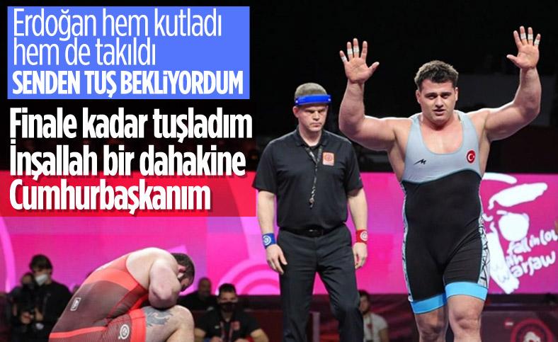 Cumhurbaşkanı Erdoğan, milli güreşçi Rıza Kayaalp'i telefonda kutladı