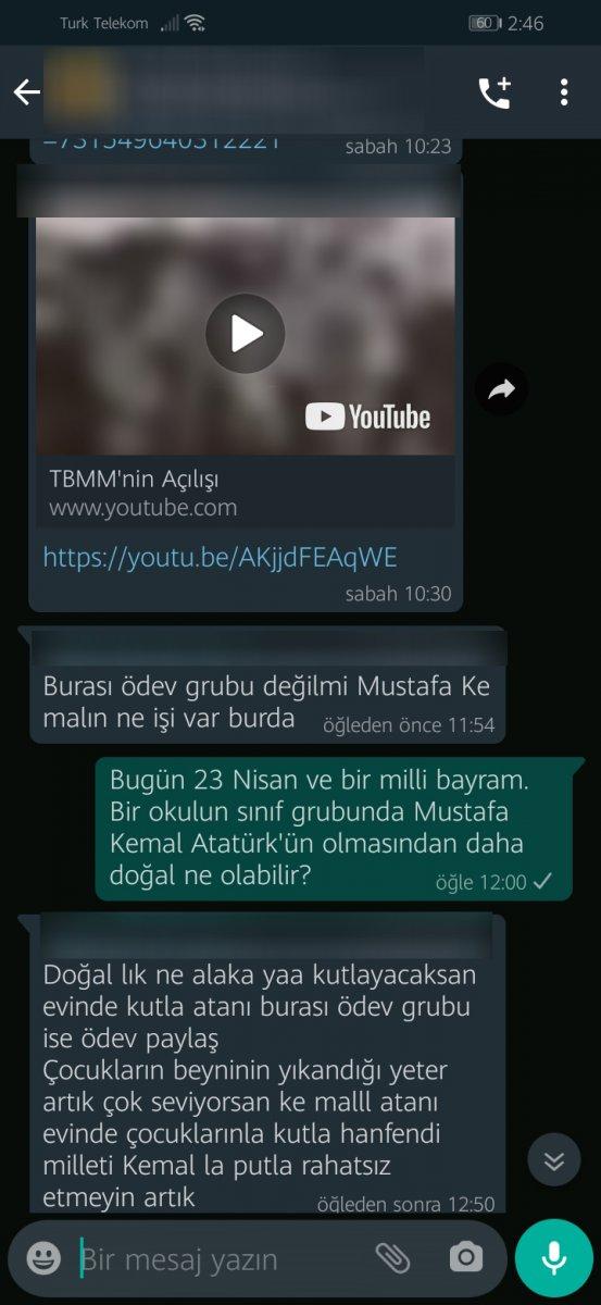 Konya da WhatsApp grubunda Atatürk e hakaret eden veliye gözaltı #1