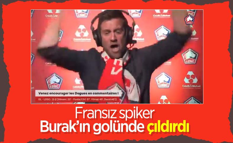 Fransız spikerin Burak'ın golüne tepkisi