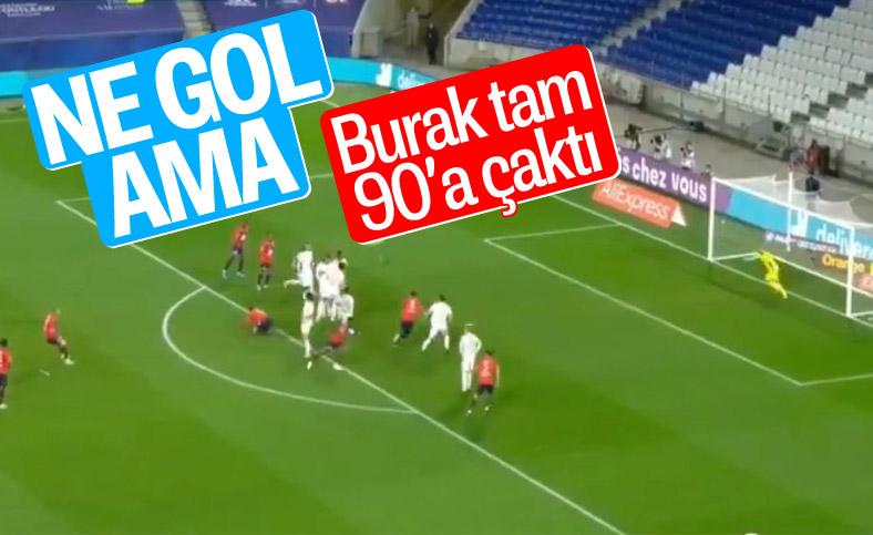 Burak Yılmaz'ın Lyon'a klas golü