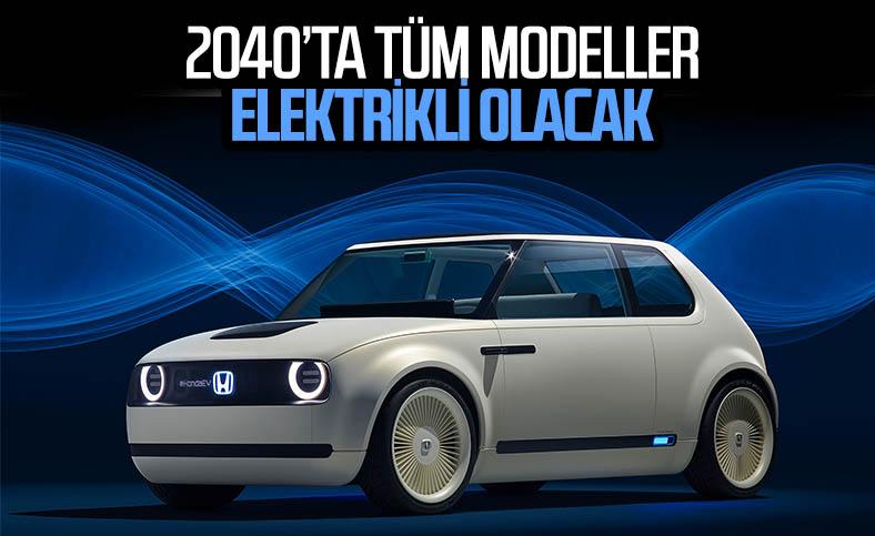 Honda, 2040 yılında tüm modellerini elektrikli yapacak