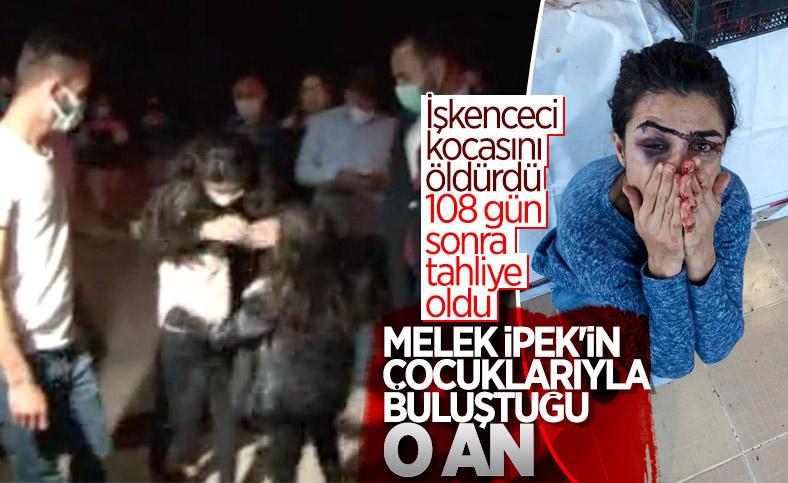 İşkenceci eşini öldüren Melek İpek'in çocuklarına kavuşma anı