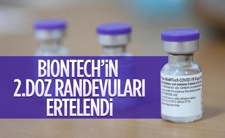 Biontech ikinci doz aşılara erteleme
