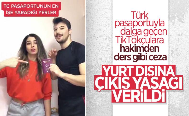 Türk pasaportunu aşağılayıcı video çektiler