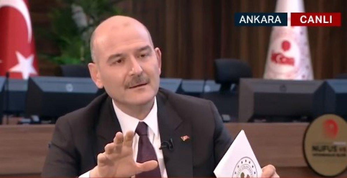 Süleyman Soylu dan terörle mücadeleye ilişkin açıklama #1
