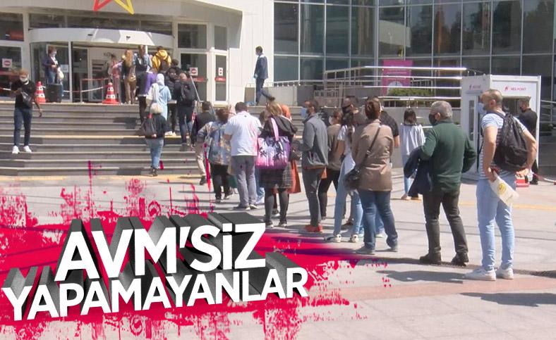 İstanbul'da tam kapanma öncesi 'AVM yoğunluğu'