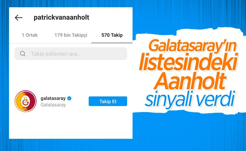 Patrick van Aanholt, Galatasaray'ı Instagram'dan takibe aldı