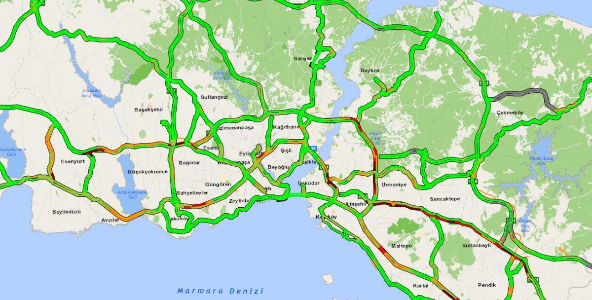 İstanbul TEM Otoyolu nda trafik yoğunluğu #10