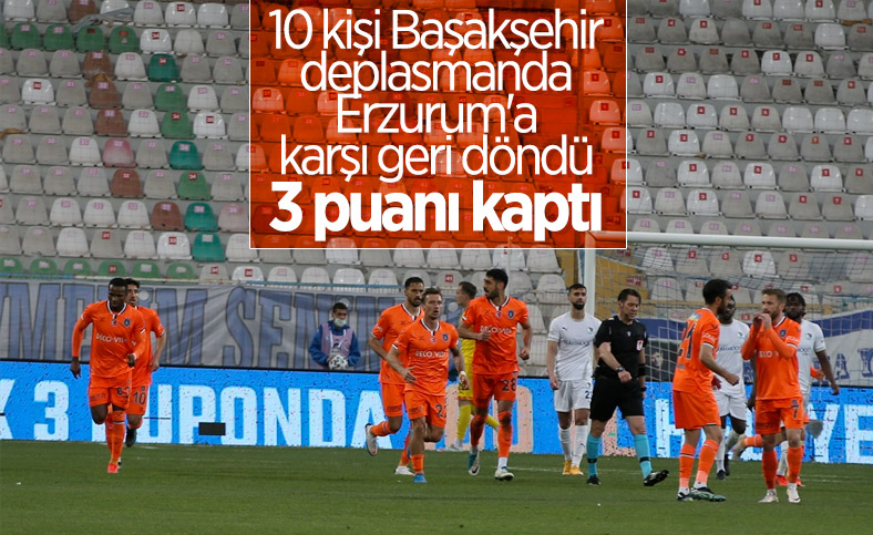 Başakşehir, deplasmanda BB Erzurumspor'u 2 golle mağlup etti