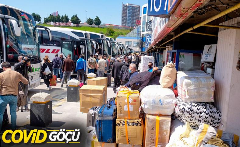 İstanbul'da otogarlarda 'tam kapanma' yoğunluğu