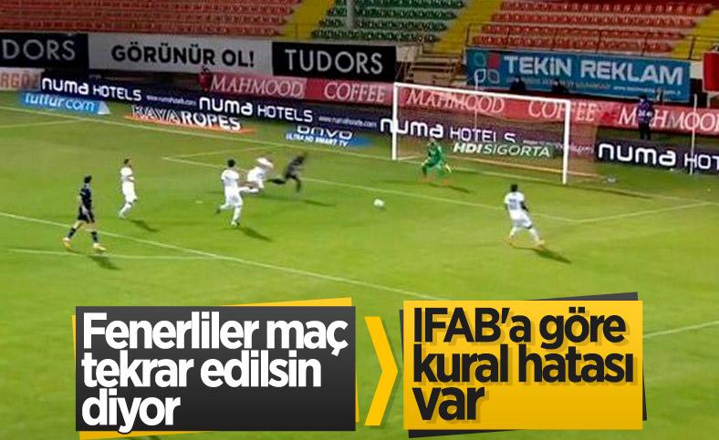 Fenerbahçeliler Alanyaspor maçında kural hatası var diyor
