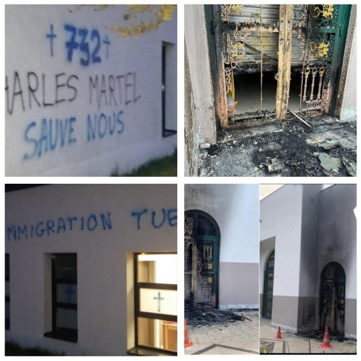 Fransa'da camiye İslamofobik saldırı  #1