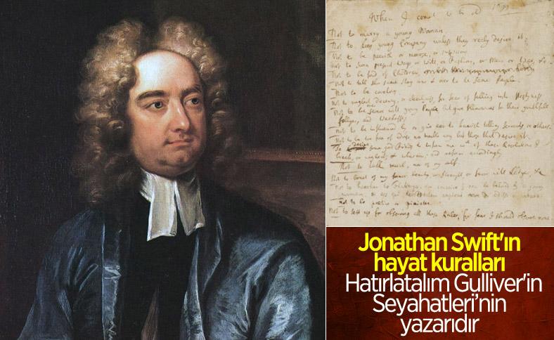 Jonathan Swift'ten kendi geleceğine dair notlar