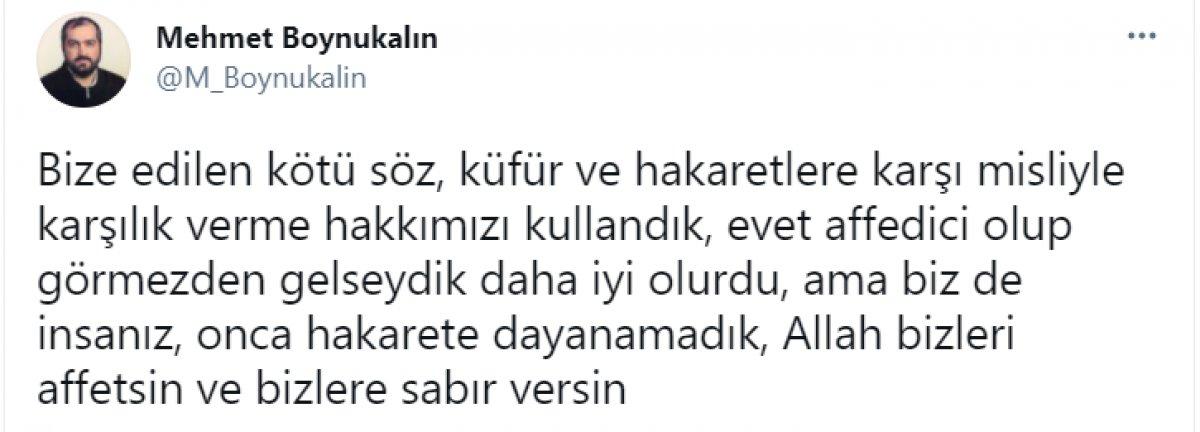 Mehmet Boynukalın'dan yeni paylaşım: Allah bizlere sabır versin #2