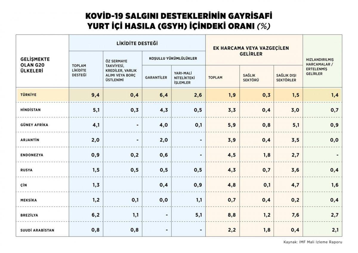 IMF: Türkiye likit destekle devleri geride bıraktı #2