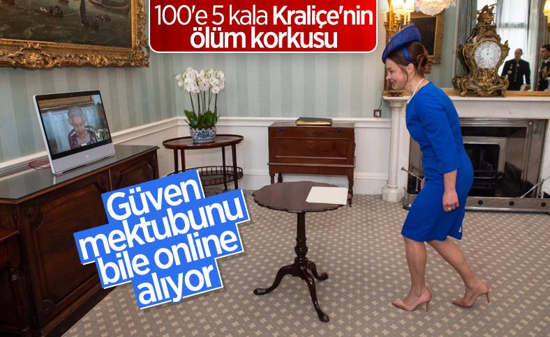 Kraliçe Elizabeth, güven mektuplarını online aldı