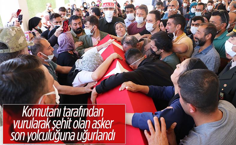 Kilis'te silah arkadaşı tarafından vurulan onbaşı toprağa verildi