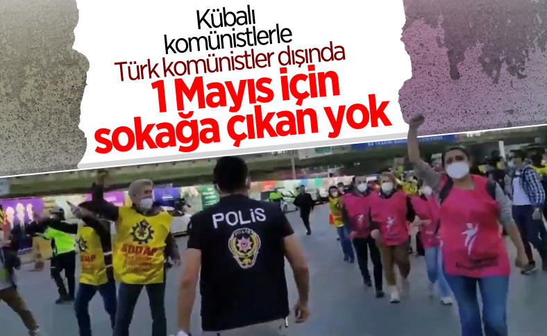 İstanbul'da kısıtlama gününde 1 Mayıs eylemleri