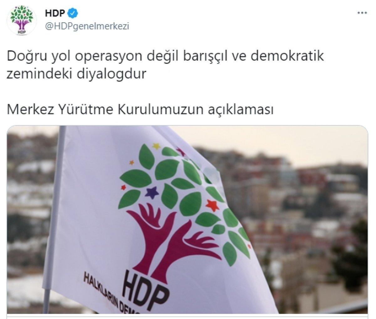 HDP, TSK nın Irak ın kuzeyindeki operasyonlarını eleştirdi #1